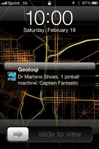 Geoloqi Pinball Notification