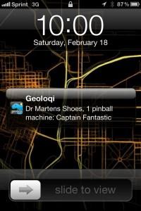 Geoloqi Pinball Notification