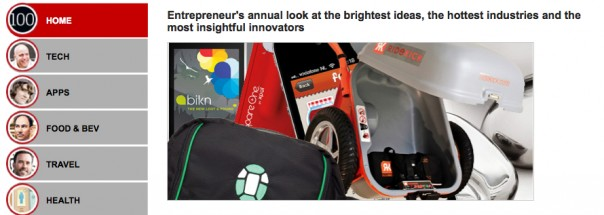 Geoloqi named Entrepreneur Magazines 100 Brilliant Companies