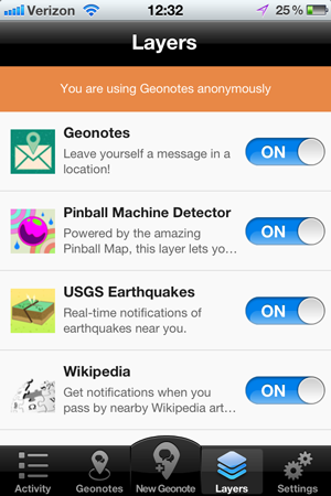 Geoloqi's Geonotes for iPhone