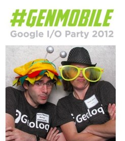 Robin Jones and Aaron Parecki at the GenMobile Geoloqi Party at Google I/O!