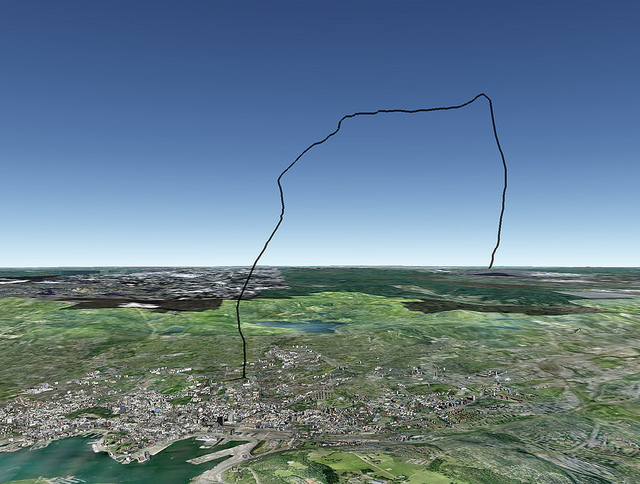 Balloon's Flight Path in Google Earth