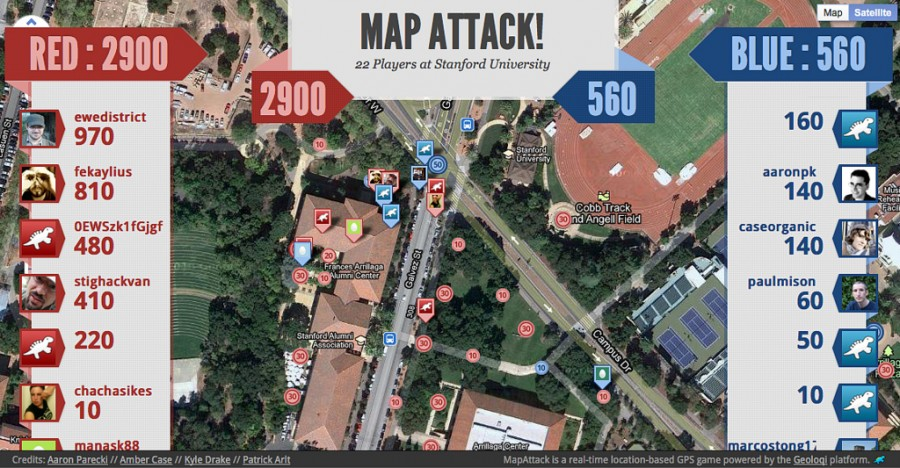MapAttack Game at Stanford University