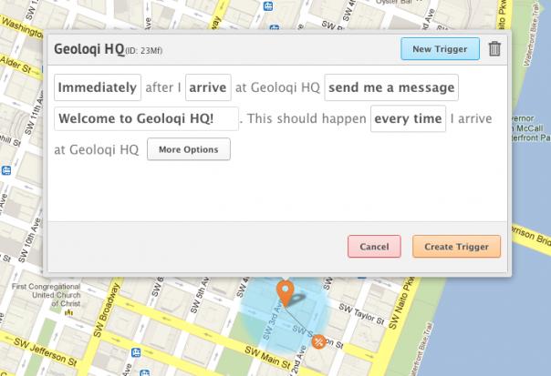 Geoloqi Visual Trigger Editor