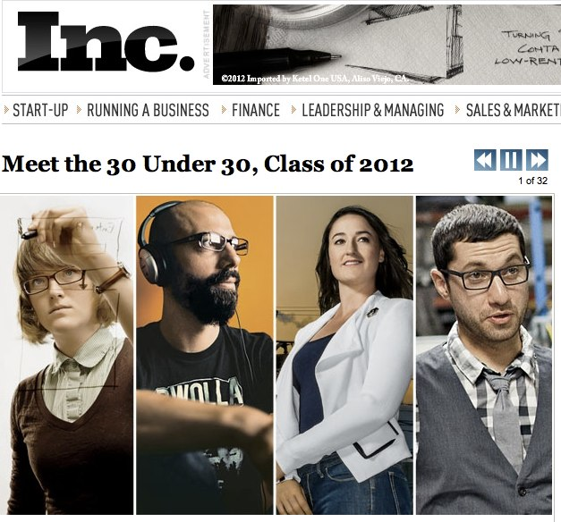 Geoloqi founders featured in Inc Magazine's 30 Under 30