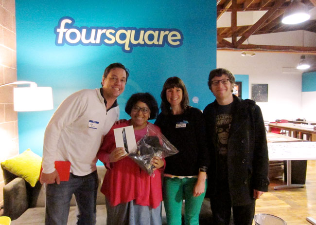 Winner of the Esri/Geoloqi prize at Foursquare Hackathon